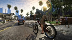 GTA 5 also encourages young boys to ride their bicycles without wearing a helmet. It's an outrage!